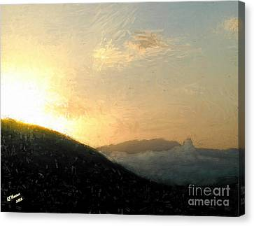 Thumb Butte Canvas Print by Arne Hansen
