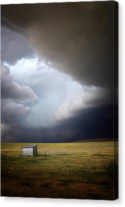 Thunderstorm Over The Plains Canvas Print by Ellen Heaverlo