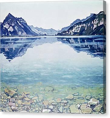 Thunersee Von Leissigen Canvas Print by Ferdinand Hodler