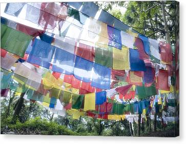 Tibetan Buddhist Prayer Flags Canvas Print by Glen Allison