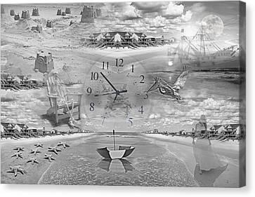 Tidal Pools Canvas Print by Betsy C Knapp