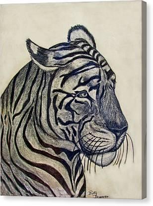 Tiger I Canvas Print by Debbie Portwood