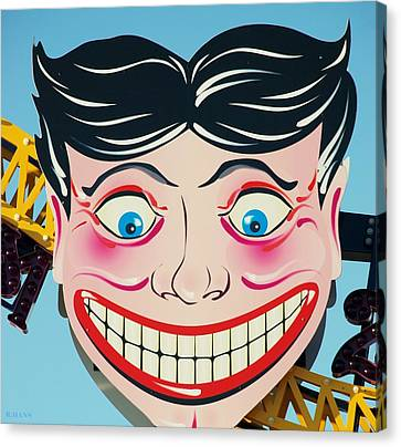 Tillie The Clown Of Coney Island Canvas Print by Rob Hans