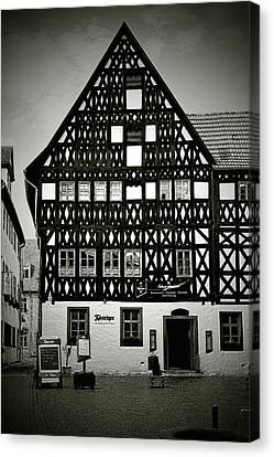 Timber-frame House Weimar Canvas Print by Christine Till