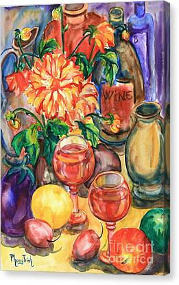 Time For Wine Canvas Print by Phong Trinh