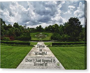 Time Is Wealth Canvas Print by Barbara Middleton