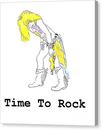 Time To Rock Canvas Print by Jeannie Atwater Jordan Allen