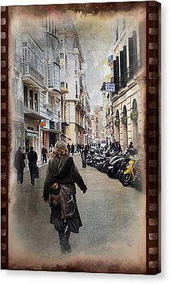 Time Warp In Malaga Canvas Print by Mary Machare