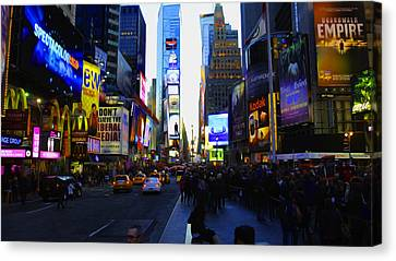 Times Square Nyc Canvas Print by Moz Art