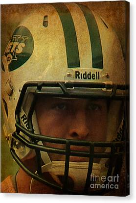 Timothy Richard Tebow - Tim Tebow - New York Jets   Canvas Print by Lee Dos Santos