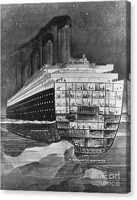 Titanic: Shipwreck, 1912 Canvas Print by Granger