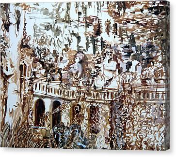 Tivili Fountains Canvas Print by Mindy Newman
