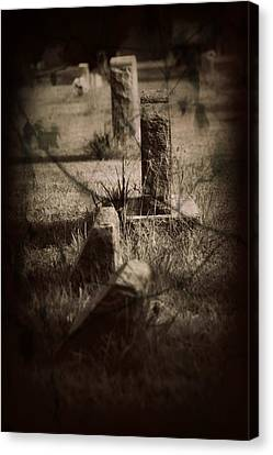 To The Grave Canvas Print by Mandy Shupp