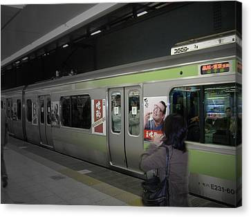 Tokyo Metro Canvas Print by Naxart Studio