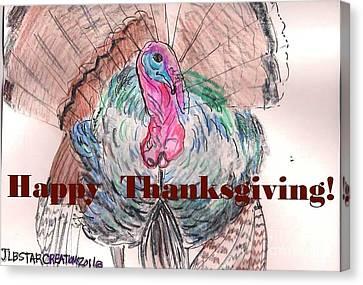 Tom Turkey Happy Thanksgiving  Canvas Print by Jamey Balester