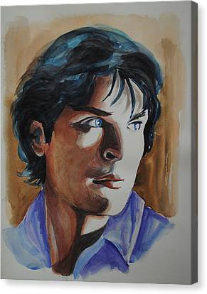 Tom Welling Canvas Print by Francoise Dugourd-Caput