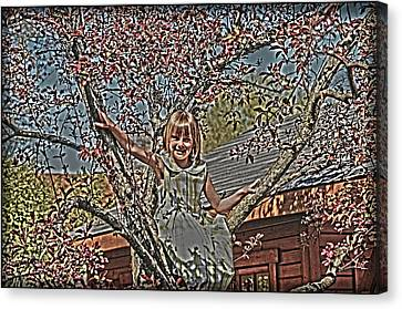 Tomboy In The Tree Canvas Print by Randall Branham
