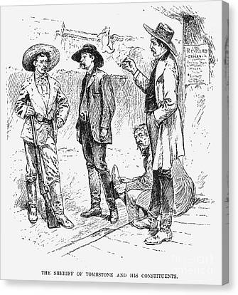 Tombstone Sheriff, 1883 Canvas Print by Granger