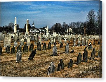 Tombstones Canvas Print by Paul Ward