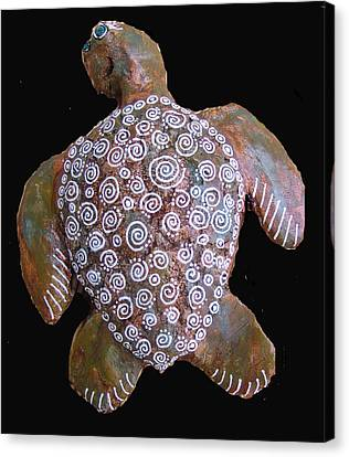 Toni The Turtle Canvas Print by Dan Townsend