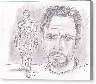 Tony Stark- Ironman Canvas Print by Chris  DelVecchio