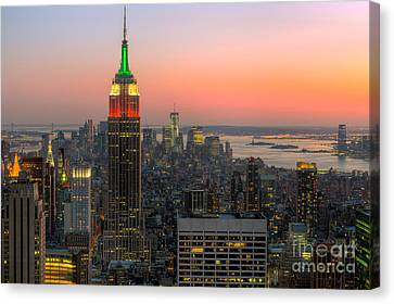 Top Of The Rock Twilight X Canvas Print by Clarence Holmes