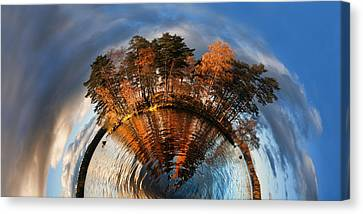 Top Of The World Lake Vuoksa Planet-rise Canvas Print by Nikki Marie Smith