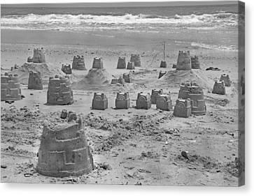 Topsail Island Sandcastle Canvas Print by Betsy Knapp