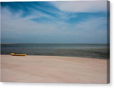 Topsail Kayak Canvas Print by Betsy C Knapp