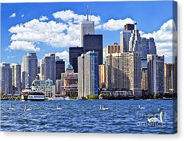 Toronto Waterfront Canvas Print by Elena Elisseeva