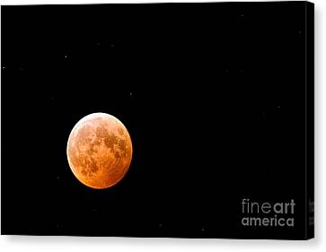Total Lunar Eclipse Canvas Print by Matt Suess