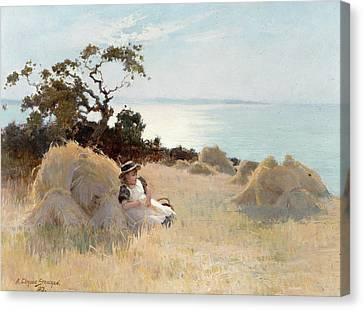 Towards Evening Canvas Print by Arthur Claude Strachan