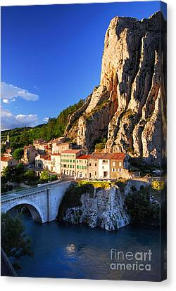Town Of Sisteron In Provence France Canvas Print by Elena Elisseeva