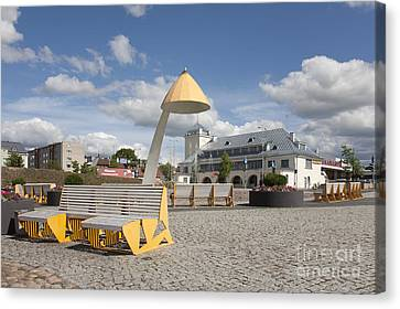 Town Square In Rakvere Canvas Print by Jaak Nilson
