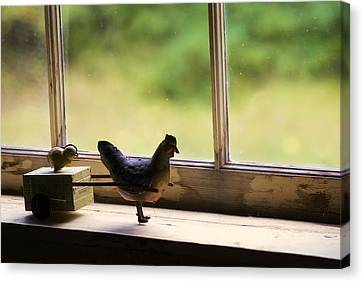 Toys In The Window Canvas Print by Wayne Stadler