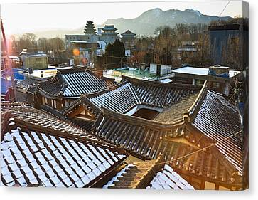 Traditional Tiled Roof Canvas Print by SJ. Kim
