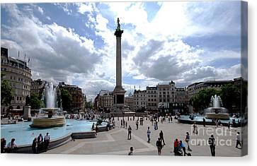 Trafalgar Square Canvas Print by Pravine Chester