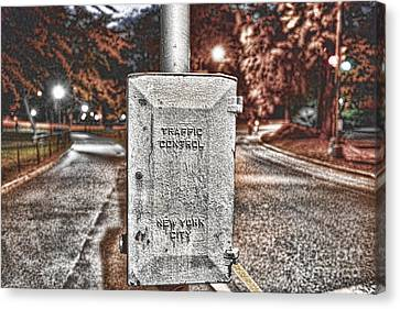 Traffic Control Box Canvas Print by Paul Ward