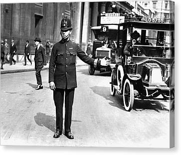Traffic Police Canvas Print by Hulton Collection
