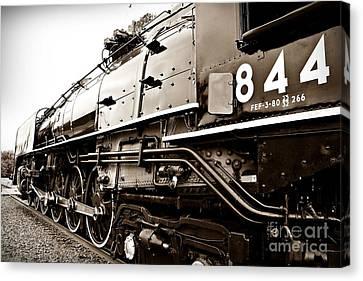 Train 844 Stopped Canvas Print by Joseph Porey