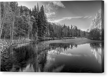 Tranquil Monochrome Canvas Print by Stephen Campbell