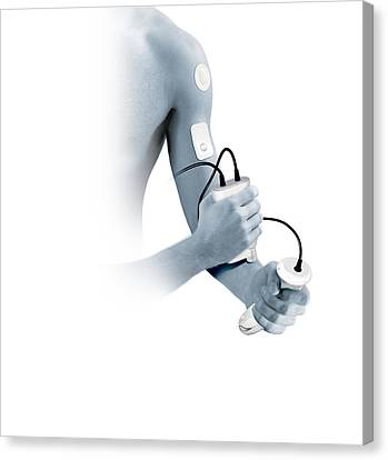 Transdermal Drug Delivery Canvas Print by Claus Lunau
