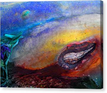 Canvas Print featuring the digital art Travel by Richard Laeton