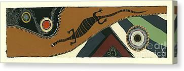 Traveling Goanna Canvas Print by Pat Saunders-White