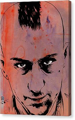 Travis Bickle Taxi Driver Canvas Print by Giuseppe Cristiano