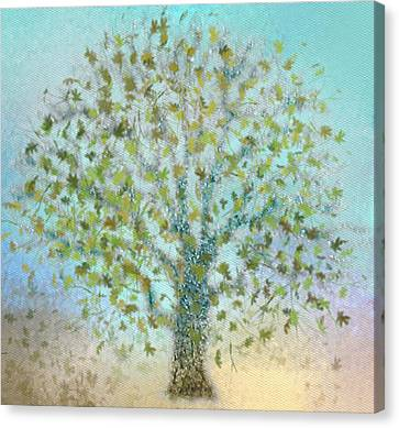 Tree In Autumn Canvas Print by Gina Lee Manley