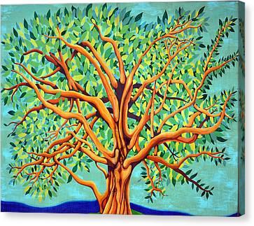 Tree Of Life Canvas Print by Fraida Gutovich