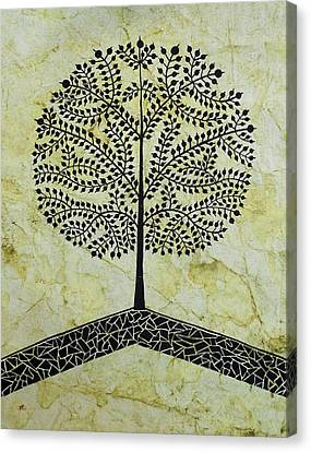 Tree Of Life-warli Contemporary Painting Canvas Print by Aboli Salunkhe