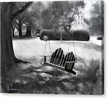 Tree Swing In Grand Coteau Canvas Print by Ron Landry