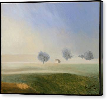 Trees In The Mist Canvas Print by Gloria Cigolini-DePietro